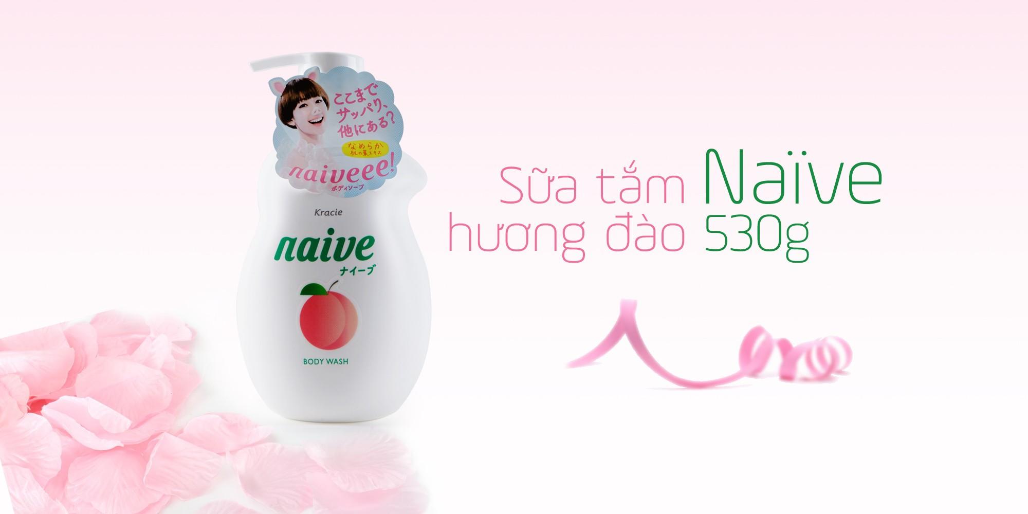 Sữa tắm chiết xuất lá đào naive